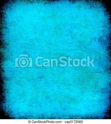 蓝色, 摘要, grunge, 背景 - csp3172560