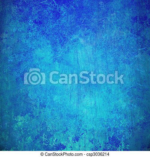 蓝色, 摘要, grunge, 背景, textured - csp3036214