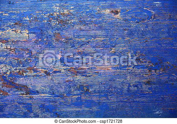 蓝色, 木制, grunge, 背景 - csp1721728