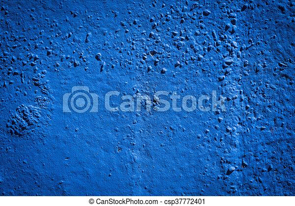 蓝色, 涂描, grunge, 墙壁 - csp37772401