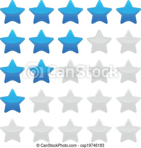 蓝色, 等级分类, 星矢量