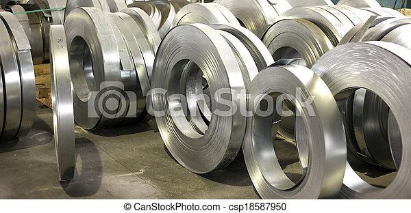 薄板金, 回転する, 錫, 生産, ホール - csp18587950