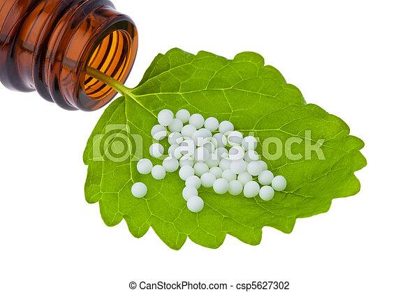 薬, 小球体, 選択肢, homeopathy. - csp5627302