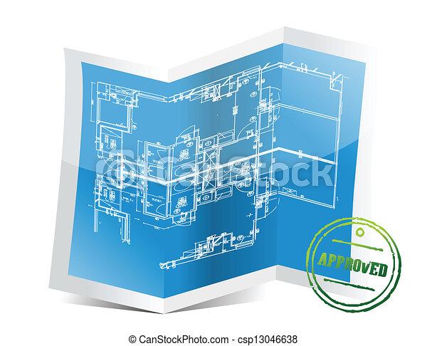 藍圖, 項目, 批准 - csp13046638