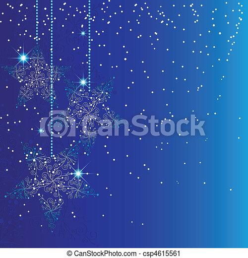 藍的星, 圣誕節裝飾 - csp4615561