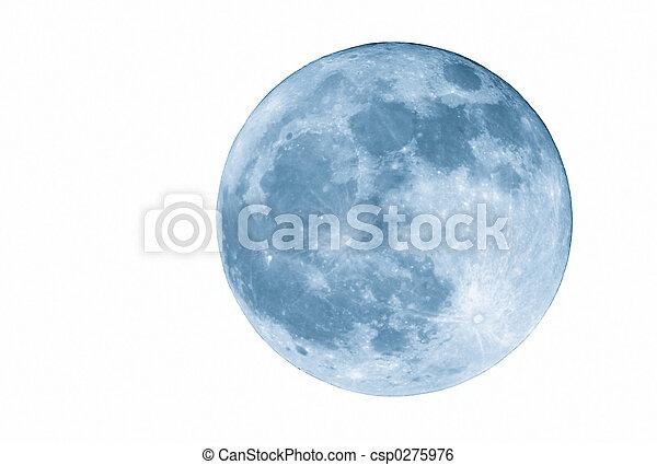 藍的月亮, 2400mm, 充分, 被隔离 - csp0275976