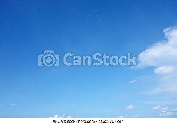 藍色的天空 - csp23707297