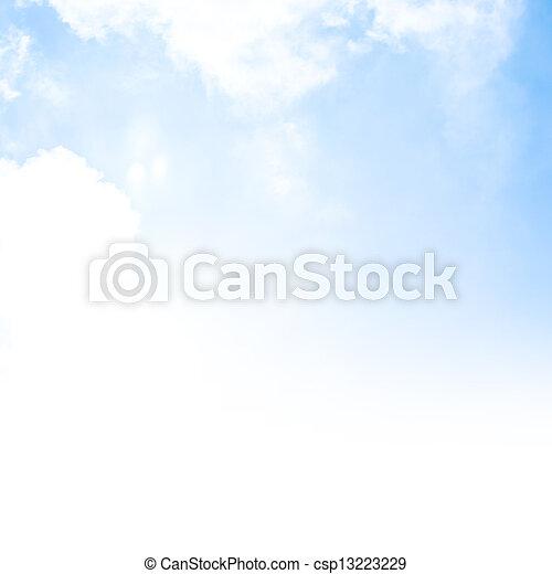 藍色的天空, 背景, 邊框 - csp13223229