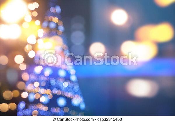 藍色的燈, 藝術, 聖誕節, 背景 - csp32315450