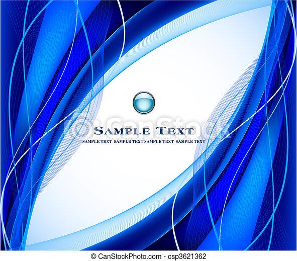 藍色的背景, 矢量, 摘要 - csp3621362