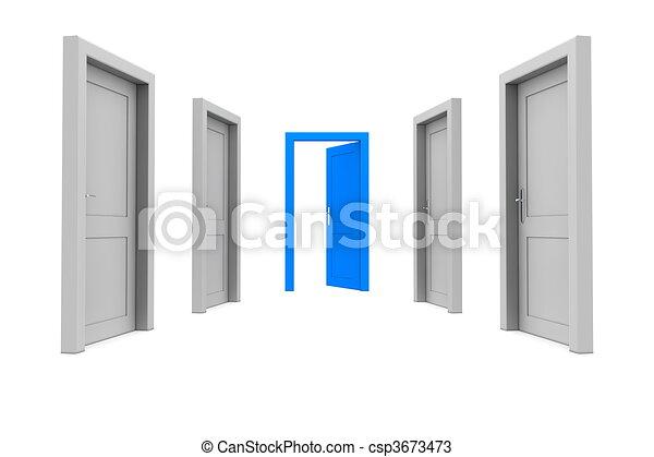 藍色的門, 拿 - csp3673473