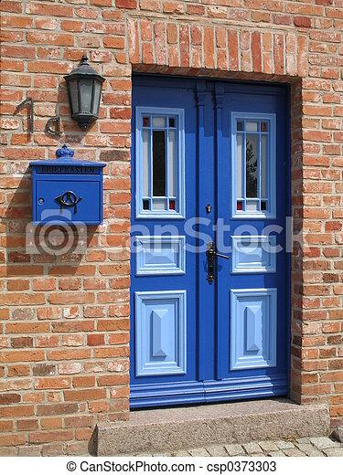 藍色的門 - csp0373303