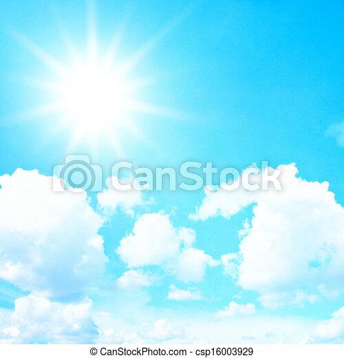 藍色, 云霧, 天空, 影響, 過濾器, retro, 太陽 - csp16003929