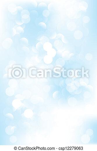 藍色, 冷, bokeh, 背景 - csp12279063