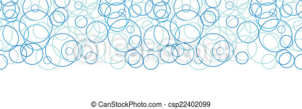 藍色, 圈子, 圖案, 摘要, seamless, 矢量, 背景, 水平, 邊框 - csp22402099