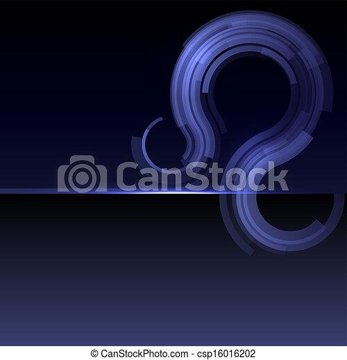 藍色, 摘要, 條紋, 背景, 波浪 - csp16016202