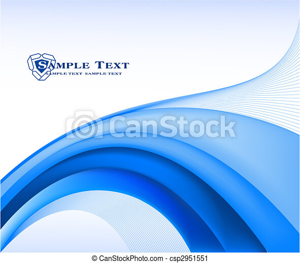 藍色, 摘要, 矢量, 背景 - csp2951551