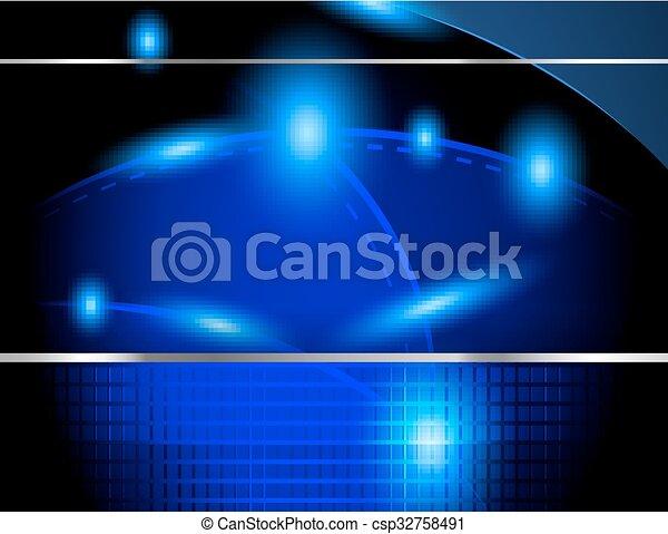 藍色, 摘要, 矢量, 背景 - csp32758491