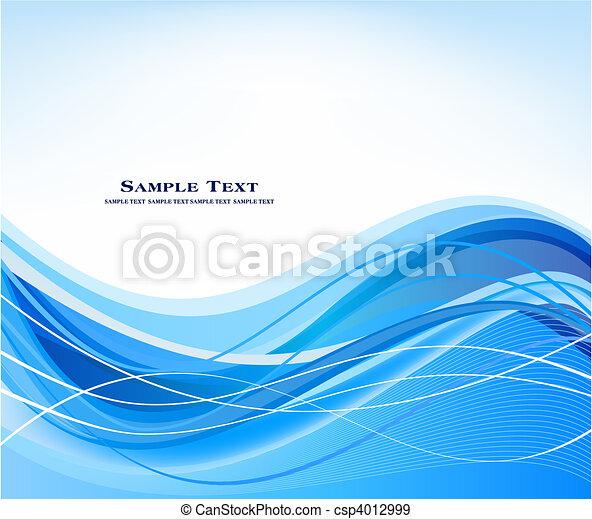 藍色, 摘要, 矢量, 背景 - csp4012999