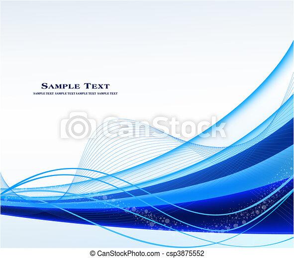 藍色, 摘要, 矢量, 背景 - csp3875552