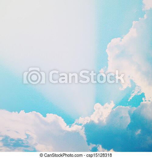 藍色, 日光, 云霧, 天空, 影響, 過濾器, 戲劇性, retro - csp15128318