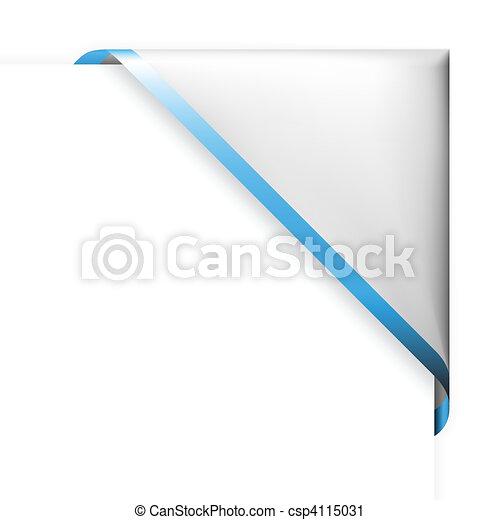 藍色, 稀薄, 角落, 白色, 邊框, 帶子 - csp4115031