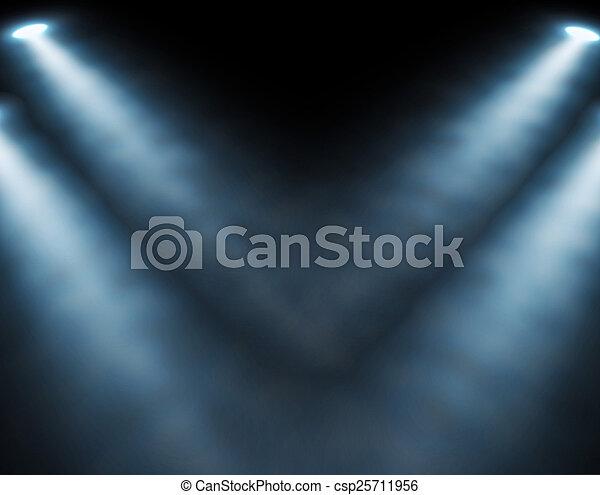 藍色, 聚光燈 - csp25711956