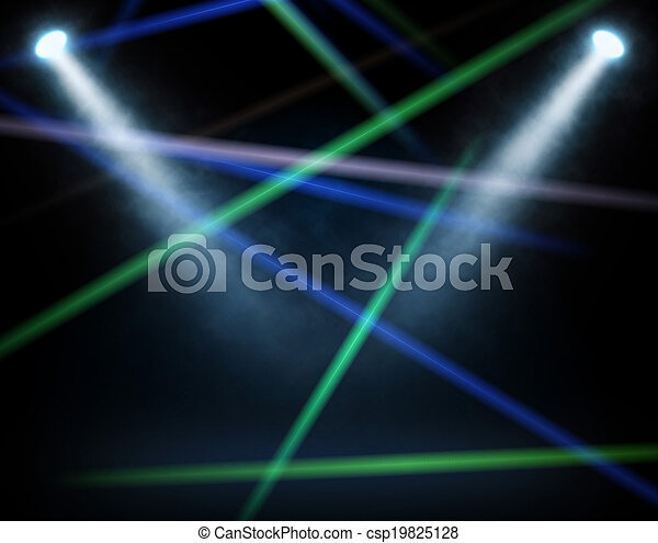 藍色, 聚光燈 - csp19825128