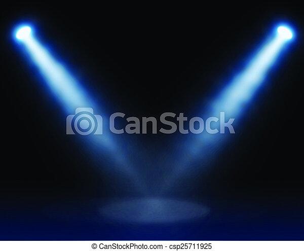 藍色, 聚光燈 - csp25711925