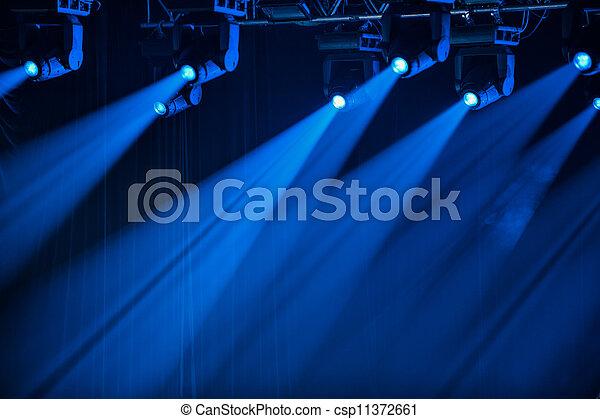 藍色, 聚光燈, 階段 - csp11372661
