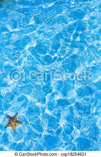 藍色, 藝術, 海水, 背景, 波紋 - csp18254631