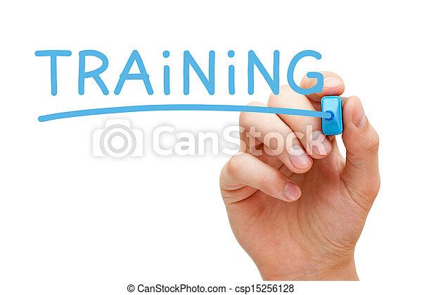 藍色, 記號, 訓練 - csp15256128