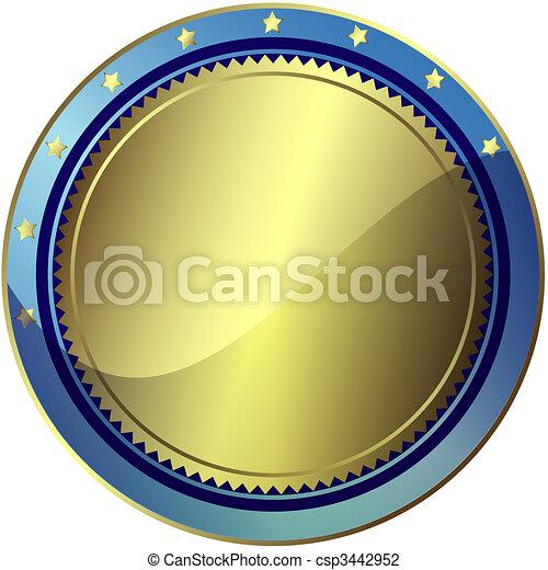 藍色, 10), (vector, eps, 褒獎, 銀色 - csp3442952