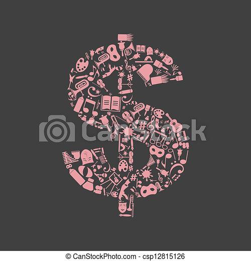 藝術, 美元 - csp12815126