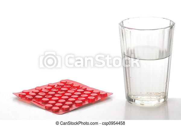 藥丸, watter - csp0954458