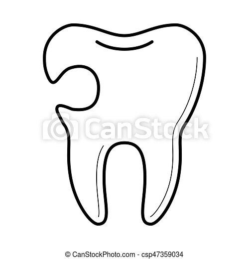 虫歯 アイコン ベクトル イラスト 歯 虫歯 教育 医学 イメージ