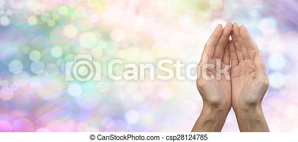 虹, 分け前, 旗, 治癒, reiki - csp28124785