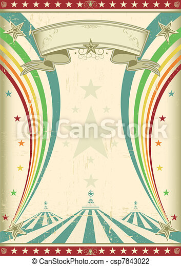 虹, 型, サーカス, ポスター - csp7843022