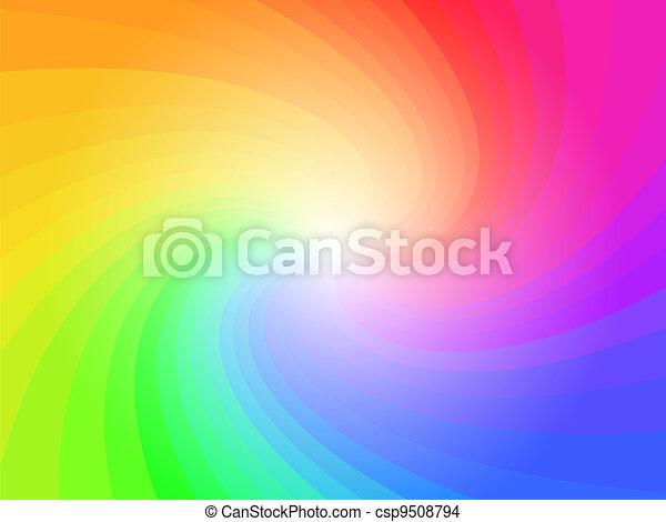 虹, 抽象的, カラフルである, 背景 パターン - csp9508794