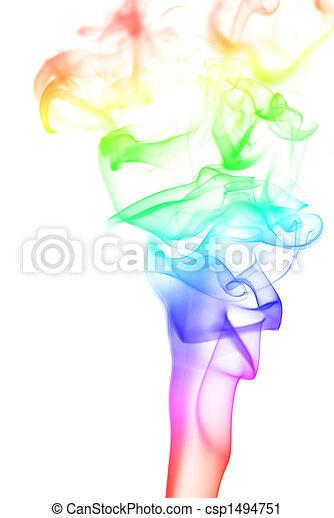 虹, 柱, 煙 - csp1494751