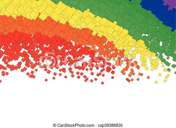 虹, 正方形 - csp39386830