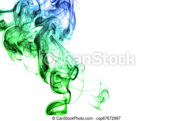 虹, 白い背景, 隔離された, 煙 - csp67672997