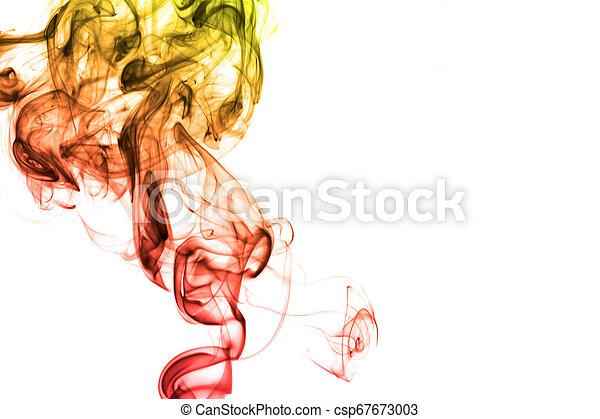 虹, 白い背景, 隔離された, 煙 - csp67673003
