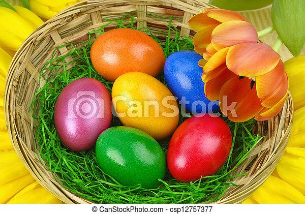 蛋, 好, 復活節, 安排 - csp12757377