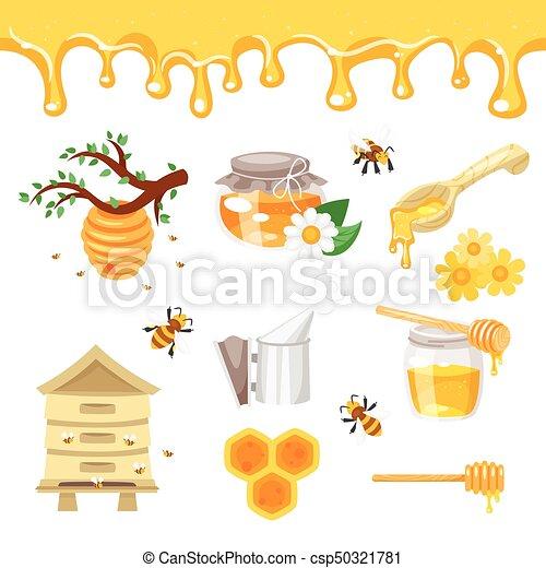 蜂蜜 イラスト Beekeeping ベクトル スタイル Beekeeping 隔離され