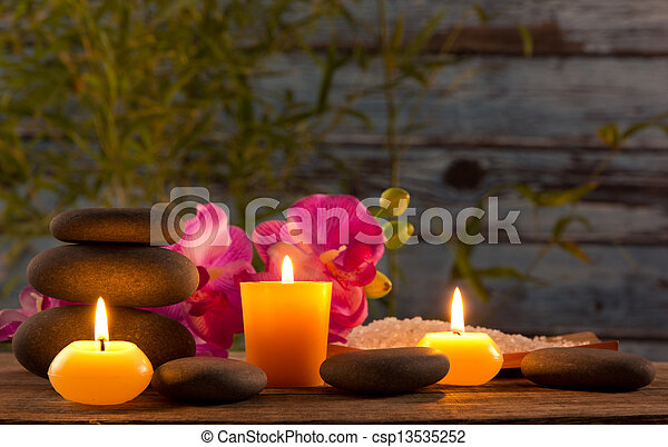 蝋燭, 生活, まだ, 芳香がする, エステ - csp13535252