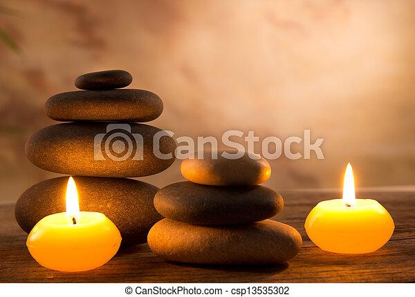 蝋燭, 生活, まだ, 芳香がする, エステ - csp13535302