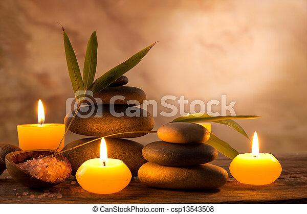 蝋燭, 生活, まだ, 芳香がする, エステ - csp13543508