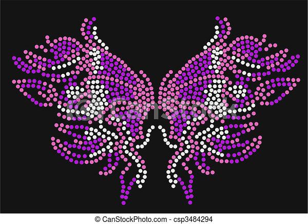 蝶, グラフィック, アートワーク - csp3484294
