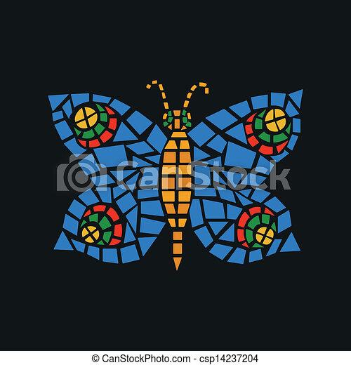 蝶, モザイク - csp14237204